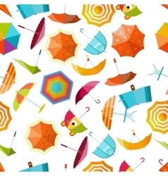 Umbrella seamless pattern vector