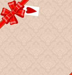Vintage Background With Ribbon vector image