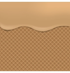 Wafer background vector image