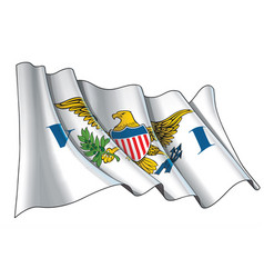 Waving flag us virgin islands vector