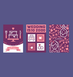 wedding cards wedding vector image