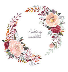 Wedding floral wreath vector
