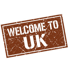 welcome to uk stamp vector image