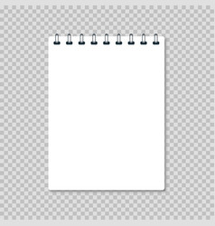 white realistic notebook vector image