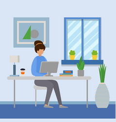 Woman workplace corporate vector