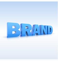 Word brand volumetric three-dimensional vector