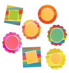 colorful frame set vector image