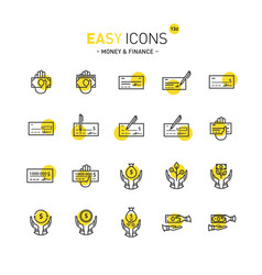 easy icons 13d money vector image vector image