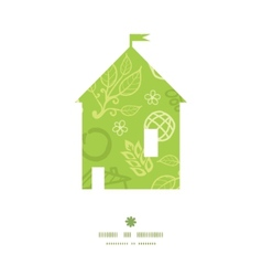 environmental house silhouette pattern frame vector image vector image