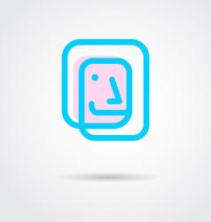 face logo design vector image