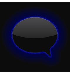 Glowing Speech Bubble vector image