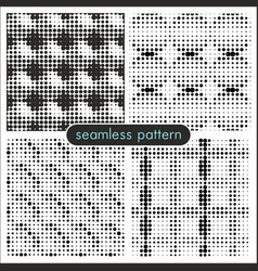 seamless patterns with halftone dots 4 vector image