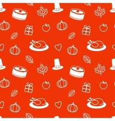 Thanksgiving Day Seamless Pattern vector image
