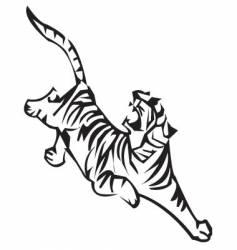 Tiger zodiac vector