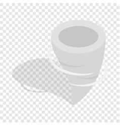 tornado isometric icon vector image