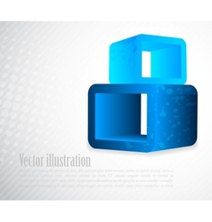 Background with 3d element in blue color vector image vector image