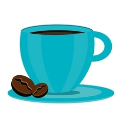 Blue coffee cup graphic vector