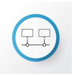 computer connection icon symbol premium quality vector image vector image
