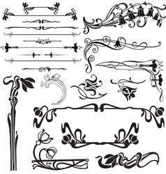 decoration for pages with bells vector image vector image
