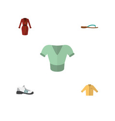 flat icon dress set of clothes casual banyan and vector image vector image