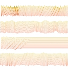 Isolated abstract pink color wavy stripes vector