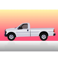 Pick-up truck white vector image vector image