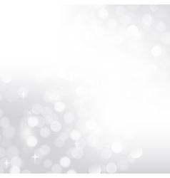 Silver bokeh background vector image vector image