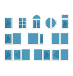 windows with white frames vector image