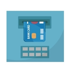 ATM with a bank card icon flat design isolated vector image vector image