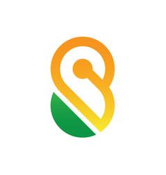 infinity concept symbol icon or logo vector image vector image
