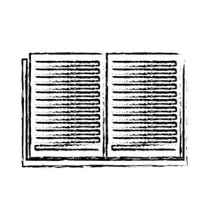 open book learn literature library sketch vector image
