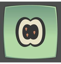 outline apple slice fruit icon Modern logo and vector image