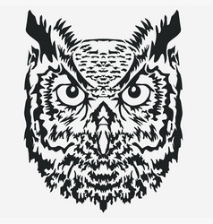 owl mascot head character vector image vector image