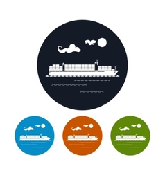 Cargo container ship icon vector image vector image