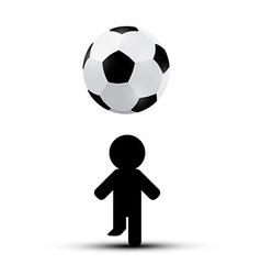 Soccer - Football Ball with Player Man Silhouette vector image