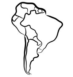 South america sketch vector