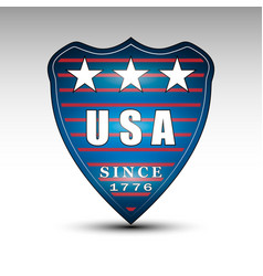 Usa shield emblem vector