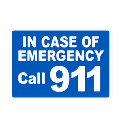 911 emergency call phone icon vector image