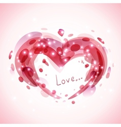Abstract romantic background vector