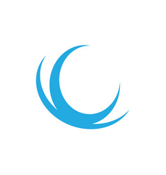 Abstract wave logo image vector