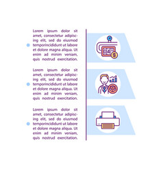 Administrative overheads concept icon with text vector