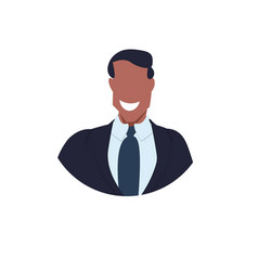 african american businessman face avatar business vector image
