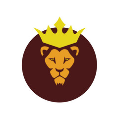 african lion king logo vector image
