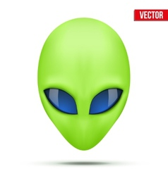 Alien head creature from another world vector