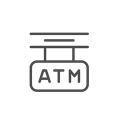atm sign line modern icon vector image