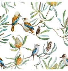 Australian kookaburra bird pattern vector