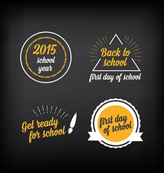 Back to school badges design elements vector image