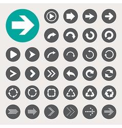 Basic arrow sign icons set vector