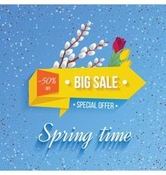 Big Sale banner on a spring background vector image