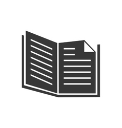 Book open single read education graphic vector